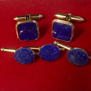 Other - Blue Lapis Cuff Links & Studs